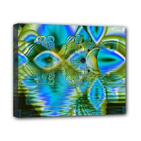 Mystical Spring, Abstract Crystal Renewal Canvas 10  X 8  (framed) by DianeClancy