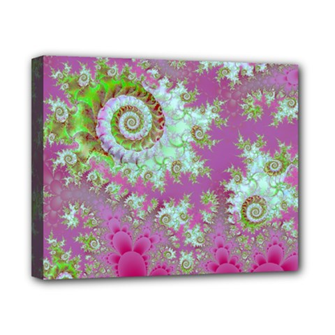 Raspberry Lime Surprise, Abstract Sea Garden  Canvas 10  X 8  (framed) by DianeClancy