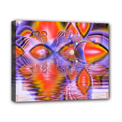 Crystal Star Dance, Abstract Purple Orange Canvas 10  X 8  (framed)