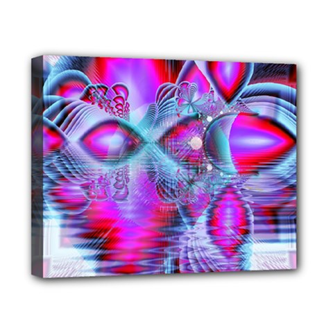 Crystal Northern Lights Palace, Abstract Ice  Canvas 10  X 8  (framed) by DianeClancy