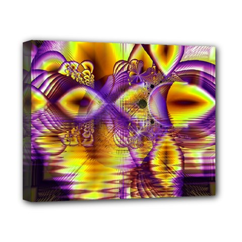 Golden Violet Crystal Palace, Abstract Cosmic Explosion Canvas 10  X 8  (framed) by DianeClancy