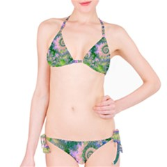 Rose Apple Green Dreams, Abstract Water Garden Bikini
