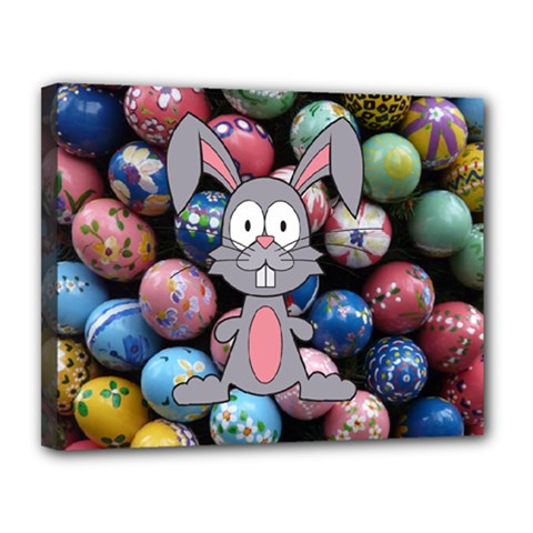 Easter Egg Bunny Treasure Canvas 14  X 11  (framed) by StuffOrSomething
