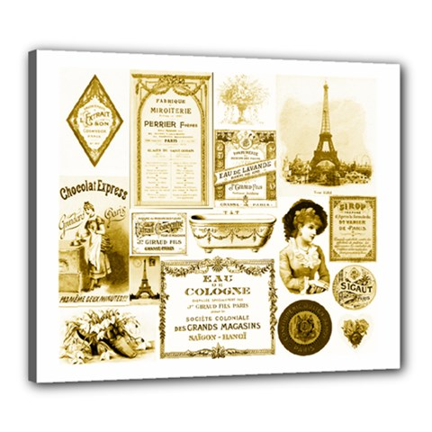 Parisgoldentower Canvas 24  X 20  (framed) by misskittys