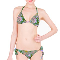 Rose Forest Green, Abstract Swirl Dance Bikini by DianeClancy