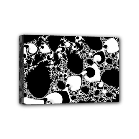 Special Fractal 04 B&w Mini Canvas 6  X 4  (framed) by ImpressiveMoments