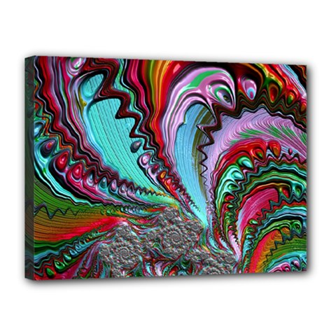 Special Fractal 02 Red Canvas 16  X 12  (framed) by ImpressiveMoments