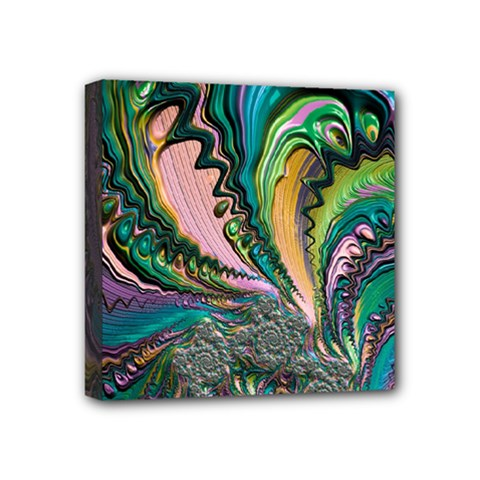 Special Fractal 02 Purple Mini Canvas 4  X 4  (framed) by ImpressiveMoments