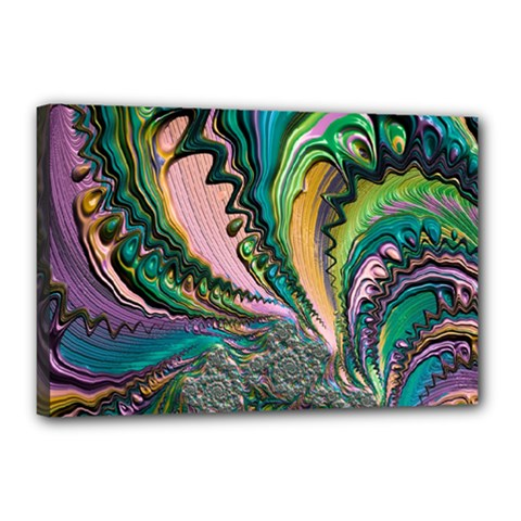 Special Fractal 02 Purple Canvas 18  X 12  (framed) by ImpressiveMoments