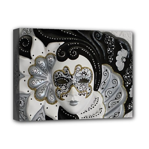 Venetian Mask Deluxe Canvas 16  X 12  (framed)  by StuffOrSomething