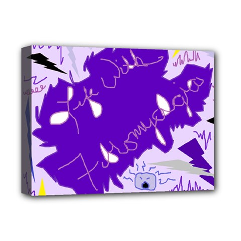 Life With Fibro2 Deluxe Canvas 16  X 12  (framed)  by FunWithFibro