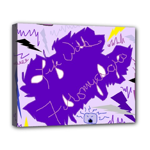 Life With Fibro2 Deluxe Canvas 20  X 16  (framed) by FunWithFibro