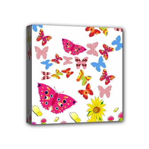 Butterfly Beauty Mini Canvas 4  X 4  (framed) by StuffOrSomething