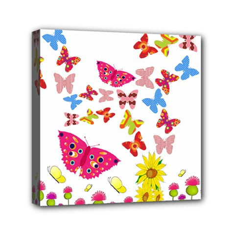 Butterfly Beauty Mini Canvas 6  X 6  (framed) by StuffOrSomething