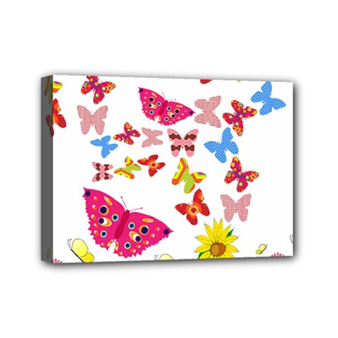 Butterfly Beauty Mini Canvas 7  X 5  (framed) by StuffOrSomething