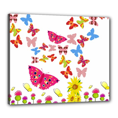 Butterfly Beauty Canvas 24  X 20  (framed) by StuffOrSomething
