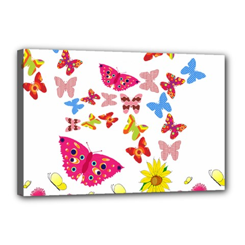 Butterfly Beauty Canvas 18  X 12  (framed) by StuffOrSomething