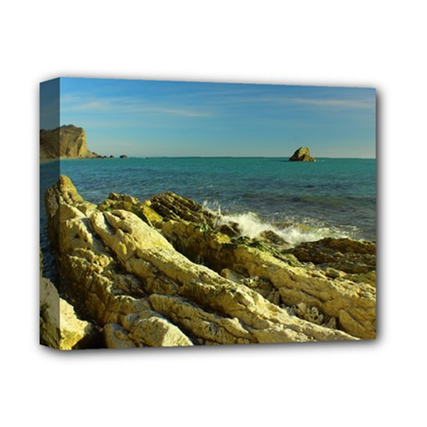 2014 03 15 Durdle Door 261 Deluxe Canvas 14  X 11  (framed) by NoemiDesign