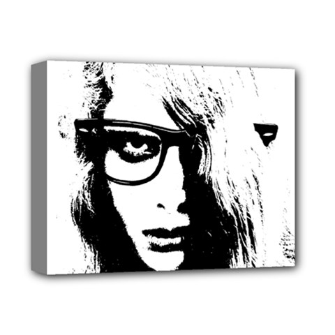 Hipster Zombie Girl Deluxe Canvas 14  X 11  (framed) by chivieridesigns