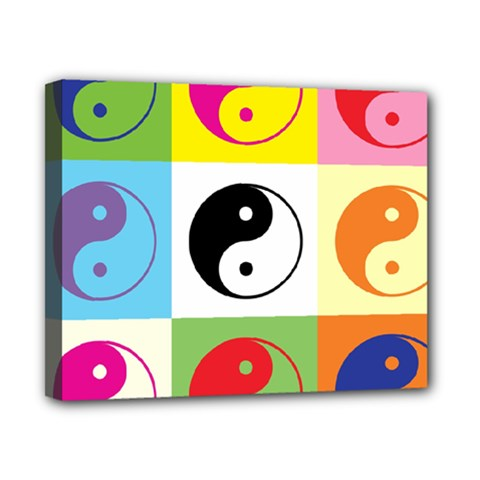 Ying Yang   Canvas 10  X 8  (framed) by Siebenhuehner