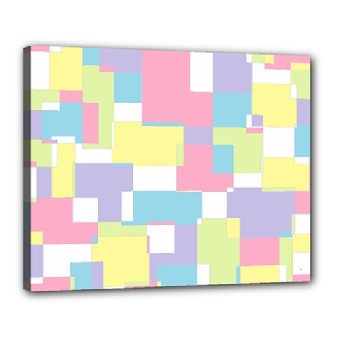 Mod Pastel Geometric Canvas 20  X 16  (framed) by StuffOrSomething