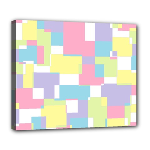 Mod Pastel Geometric Deluxe Canvas 24  X 20  (framed) by StuffOrSomething