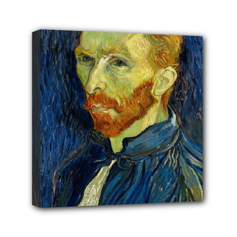 Vincent Van Gogh Self Portrait With Palette Mini Canvas 6  X 6  (framed) by MasterpiecesOfArt