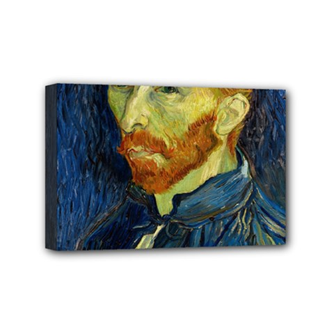Vincent Van Gogh Self Portrait With Palette Mini Canvas 6  X 4  (framed) by MasterpiecesOfArt