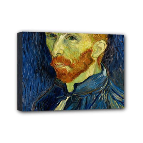 Vincent Van Gogh Self Portrait With Palette Mini Canvas 7  X 5  (framed) by MasterpiecesOfArt