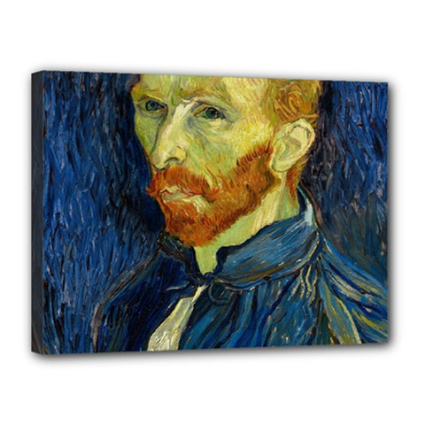 Vincent Van Gogh Self Portrait With Palette Canvas 16  X 12  (framed) by MasterpiecesOfArt