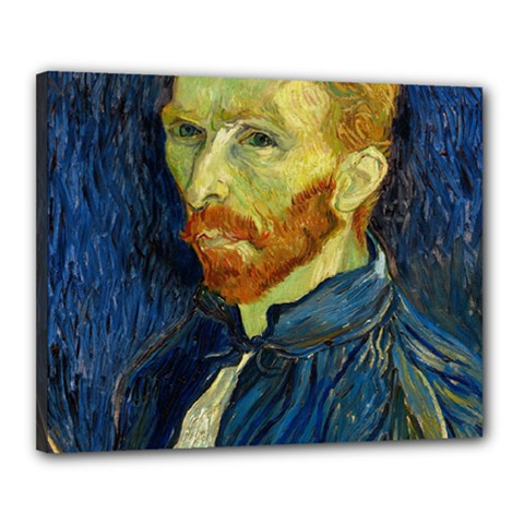 Vincent Van Gogh Self Portrait With Palette Canvas 20  X 16  (framed) by MasterpiecesOfArt