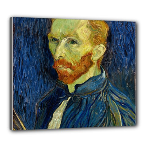 Vincent Van Gogh Self Portrait With Palette Canvas 24  X 20  (framed) by MasterpiecesOfArt