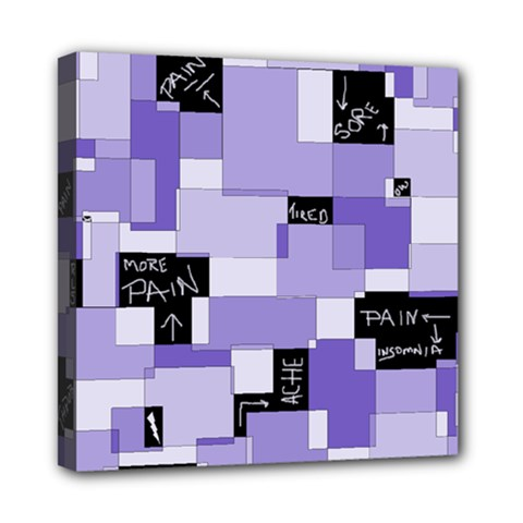 Purple Pain Modular Mini Canvas 8  X 8  (framed) by FunWithFibro