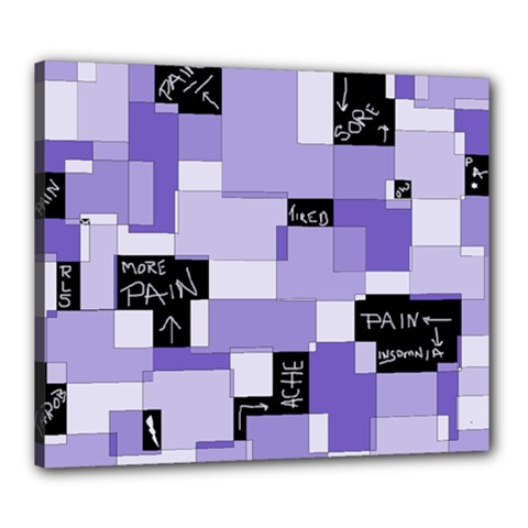 Purple Pain Modular Canvas 24  X 20  (framed) by FunWithFibro