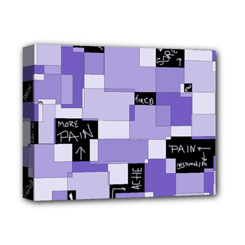 Purple Pain Modular Deluxe Canvas 14  X 11  (framed) by FunWithFibro