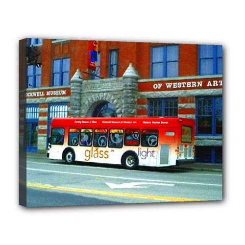 Double Decker Bus   Ave Hurley   Canvas 14  X 11  (framed) by ArtRave2