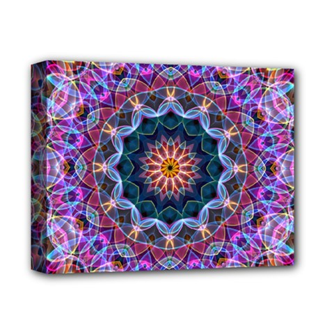 Purple Lotus Deluxe Canvas 14  X 11  (framed) by Zandiepants