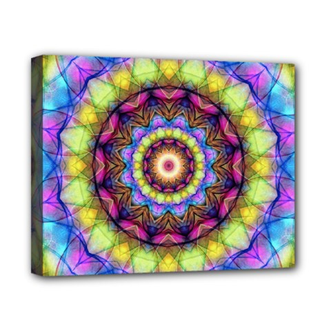 Rainbow Glass Canvas 10  X 8  (framed) by Zandiepants