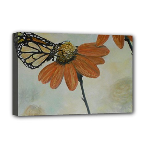Monarch Deluxe Canvas 18  X 12  (framed) by rokinronda