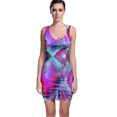 Crystal Northern Lights Palace, Abstract Ice Sleeveless Bodycon Dress by DianeClancy