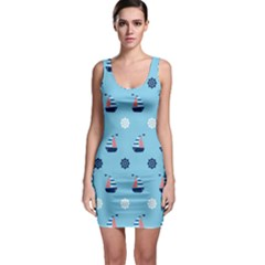 Summer Sailing Bodycon Dress by StuffOrSomething