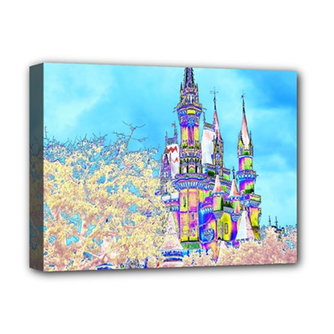 Castle For A Princess Deluxe Canvas 16  X 12  (framed)  by rokinronda