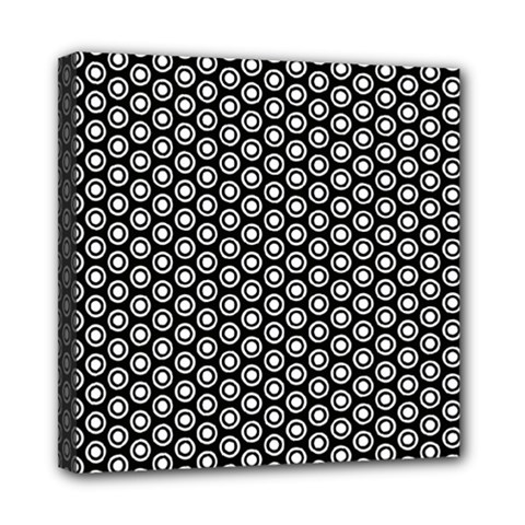 Groovy Circles Mini Canvas 8  X 8  (framed) by StuffOrSomething