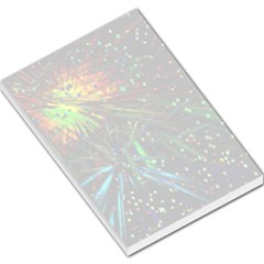 Exploding Fireworks Large Memo Pad by StuffOrSomething