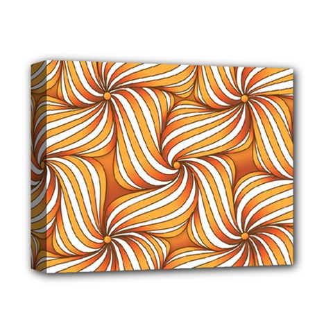 Sunny Organic Pinwheel Deluxe Canvas 14  X 11  (framed) by Zandiepants