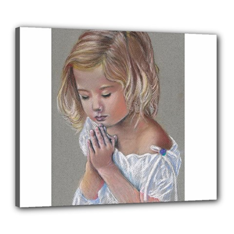 Prayinggirl Canvas 24  x 20  (Framed)