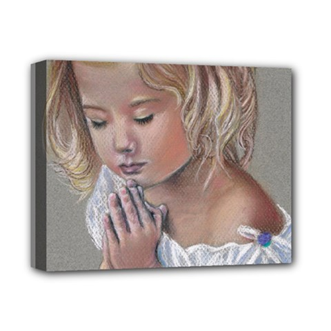 Prayinggirl Deluxe Canvas 14  x 11  (Framed)