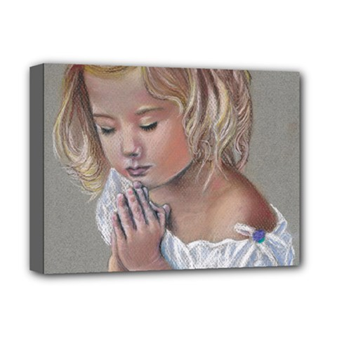 Prayinggirl Deluxe Canvas 16  x 12  (Framed)