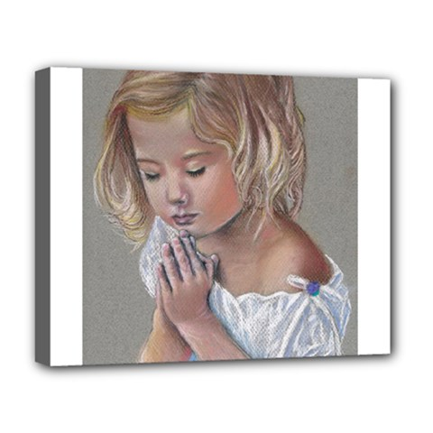 Prayinggirl Deluxe Canvas 20  x 16  (Framed)