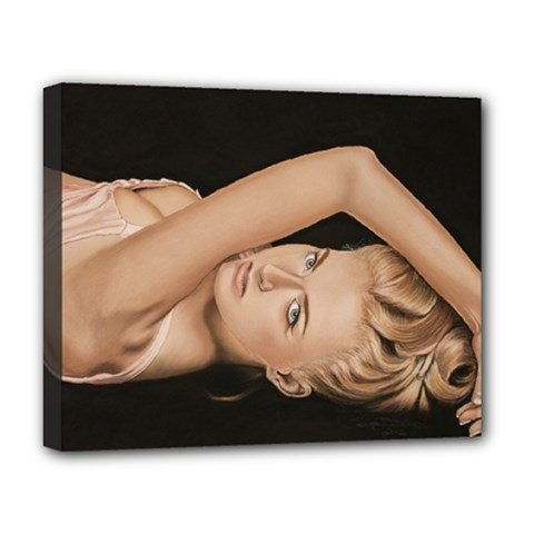 Alluring Deluxe Canvas 20  x 16  (Framed)